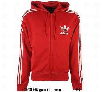 sweat homme adidas rouge